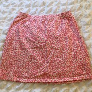 Pink cheetah print skirt